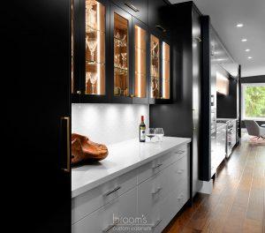 twelve mile black white and wood custom kitchen 02