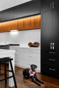 twelve mile black white and wood custom kitchen 03